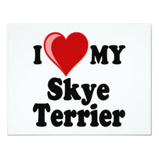 I Love (Heart) My Skye Terrier Dog Card