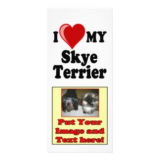 I Love Heart My Skye Terrier Dog Personalized Rack Card