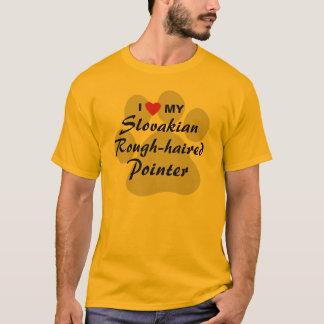 I Love (Heart) My Slovakian Rough-haired Pointer T-Shirt