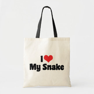 I Love Heart My Snake - Snake Lover Tote Bag