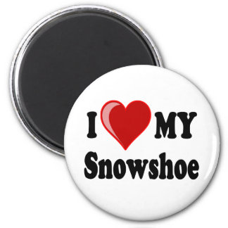 I Love (Heart) My Snowshoe Cat Fridge Magnets