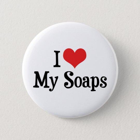 I Love Heart My Soaps - Soap Opera Lover Button
