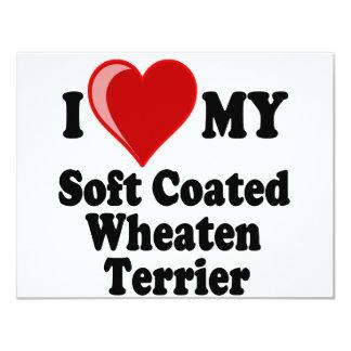 I Love (Heart) My Soft Coated Wheaten Terrier Dog Card