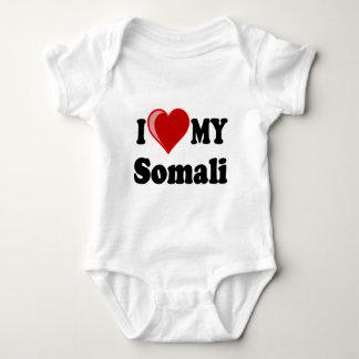 I Love (Heart) My Somali Cat Baby Bodysuit