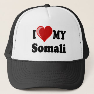 I Love (Heart) My Somali Cat Trucker Hat