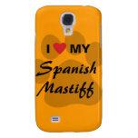I Love (Heart) My Spanish Mastiff Pawprint Samsung Galaxy S4 Cover