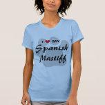 I Love (Heart) My Spanish Mastiff Pawprint T-Shirt