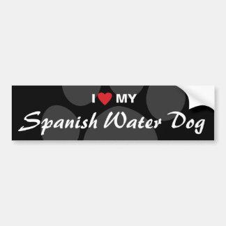 I Love (Heart) My Spanish Water Dog Bumper Sticker