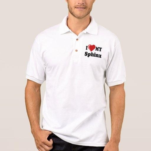 I Love (Heart) My Sphinx Cat Polo Shirts