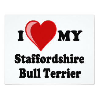 I Love (Heart) My Staffordshire Bull Dog Card