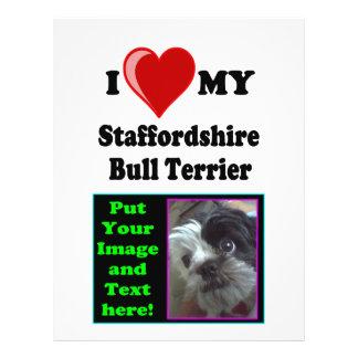 I Love (Heart) My Staffordshire Bull Dog Flyers