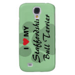 I Love (Heart) My Staffordshire Bull Terrier Samsung Galaxy S4 Case