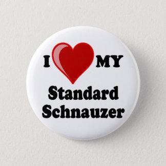I Love (Heart) My Standard Schnauzer Dog Button