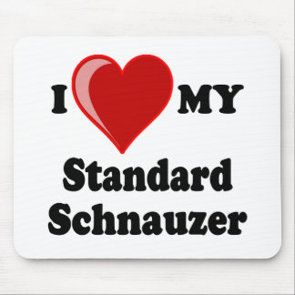 I Love (Heart) My Standard Schnauzer Dog Mouse Pad