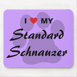 I Love (Heart) My Standard Schnauzer Mouse Pad