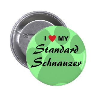 I Love (Heart) My Standard Schnauzer Pins