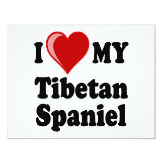 I Love (Heart) My Tibetan Spaniel Dog Card