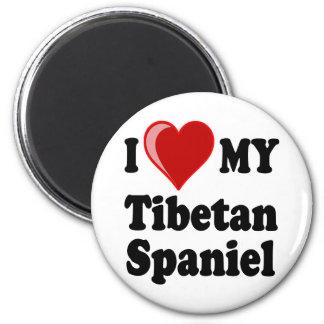 I Love (Heart) My Tibetan Spaniel Dog Fridge Magnets