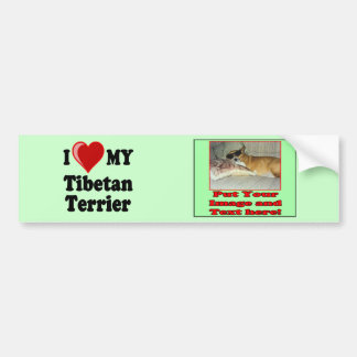 I Love (Heart) My Tibetan Terrier Dog Bumper Stickers