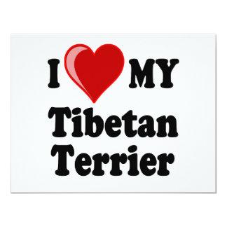 I Love (Heart) My Tibetan Terrier Dog Card