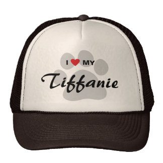I Love (Heart) My Tiffanie Pawprint Trucker Hat