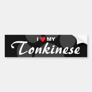 I Love (Heart) My Tonkinese Bumper Sticker