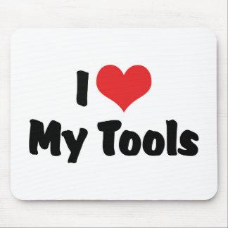 I Love Heart My Tools - Handyman Craftsman Builder Mouse Pad