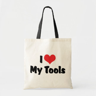 I Love Heart My Tools - Handyman Craftsman Builder Tote Bag