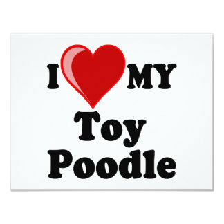 I Love (Heart) My Toy Poodle Dog Card