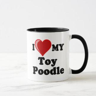 I Love (Heart) My Toy Poodle Dog Mug