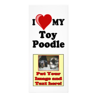 I Love (Heart) My Toy Poodle Dog Rack Card