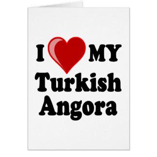 I Love (Heart) My Turkish Angora Cat Cards