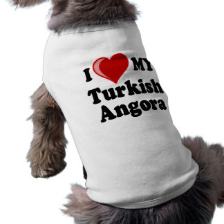 I Love (Heart) My Turkish Angora Cat Doggie T-shirt