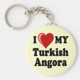 I Love (Heart) My Turkish Angora Cat Keychains