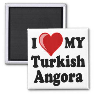 I Love (Heart) My Turkish Angora Cat Magnet