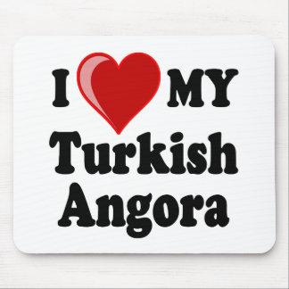 I Love (Heart) My Turkish Angora Cat Mouse Mat