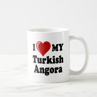 I Love (Heart) My Turkish Angora Cat Mugs