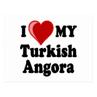 I Love (Heart) My Turkish Angora Cat Postcard