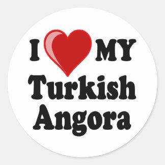 I Love (Heart) My Turkish Angora Cat Stickers