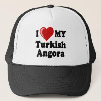 I Love (Heart) My Turkish Angora Cat Trucker Hat