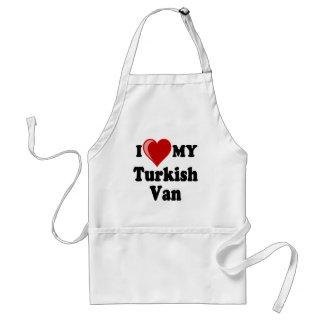 I Love (Heart) My Turkish Van Cat Adult Apron