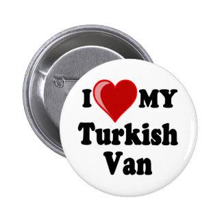 I Love (Heart) My Turkish Van Cat Pinback Buttons