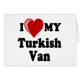 I Love (Heart) My Turkish Van Cat Greeting Cards