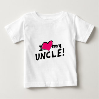 I love (heart) my uncle! baby T-Shirt