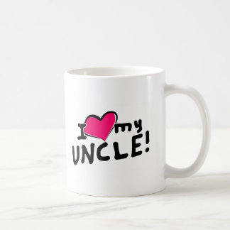 I love (heart) my uncle! coffee mug