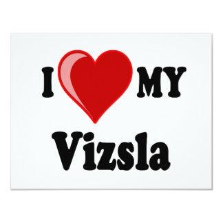 I Love (Heart) My Vizsla Dog Card