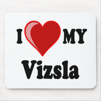 I Love (Heart) My Vizsla Dog Mouse Pad