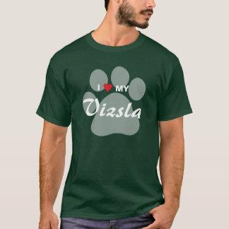 I Love (Heart) My Vizsla Pawprint T-Shirt