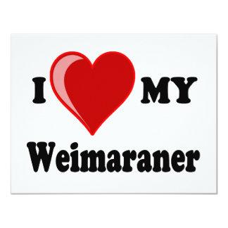 I Love (Heart) My Weimaraner Dog Card