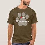I Love (Heart) My Weimaraner Pawprint T-Shirt